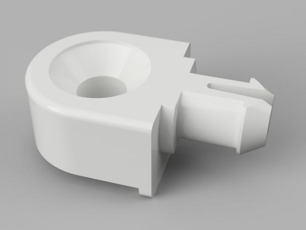 Radachse aus Kunststoff 9.5mm hoch