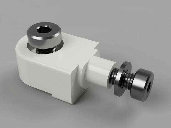 Radachse mit Schraube aus Kunststoff 9.5mm hoch